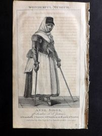 Wonderful Museum C1805 Portrait Print. Anne Siggs of Swallow St. James's